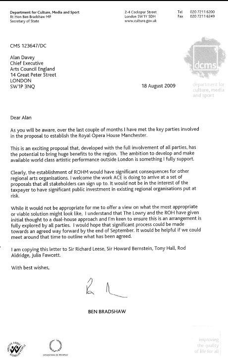 Bradshaw letter