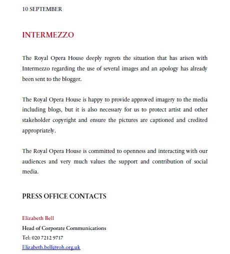 Without Prejudice - why all the Royal Opera House posts have disappeared - UPDATED (2 ...