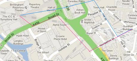 Symphony hall route