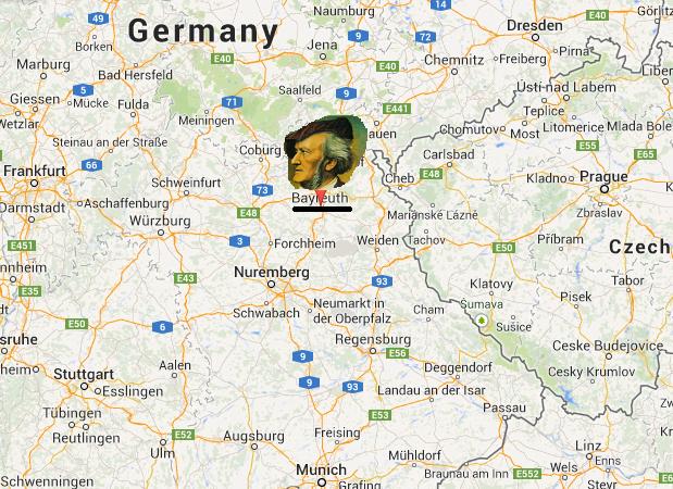 Bayreuth map